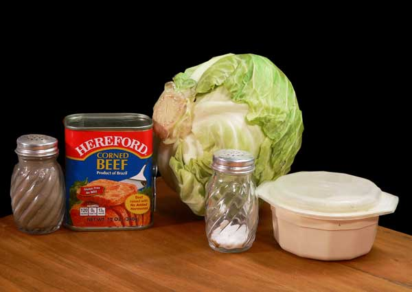 Corned Beef and Cabbage, you'll need these ingredients.