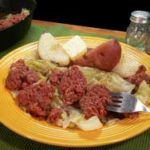 Corned Beef and Cabbage with printable recipe as seen on Taste of Southern.