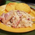 Lima Beans with Ham Hocks and Rice, as seen on Taste of Southern.