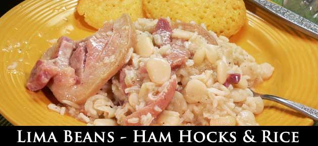 Lima Beans with Ham Hocks and Rice, slider.
