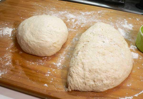 Sourdough Bread, shape into rounds.