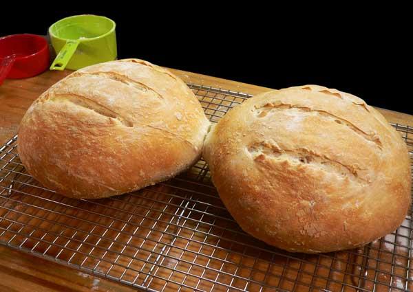 Sourdough Bread, let the bread cool.