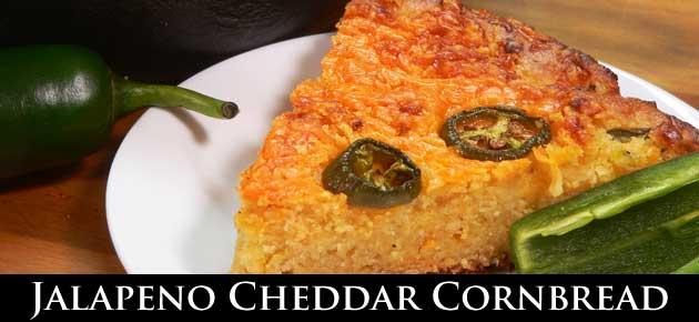 Jalapeno Cheddar Cornbread, slider.