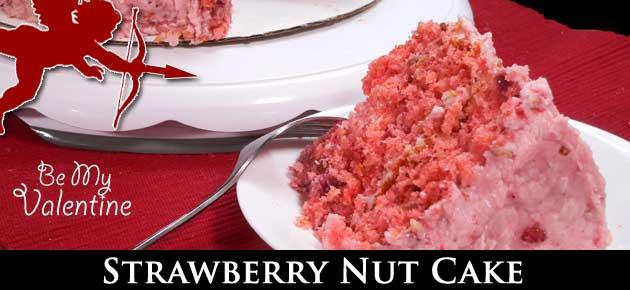 Strawberry Nut Cake, slider.