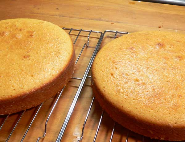 Golden Butter Cake, let cool on the wire racks.
