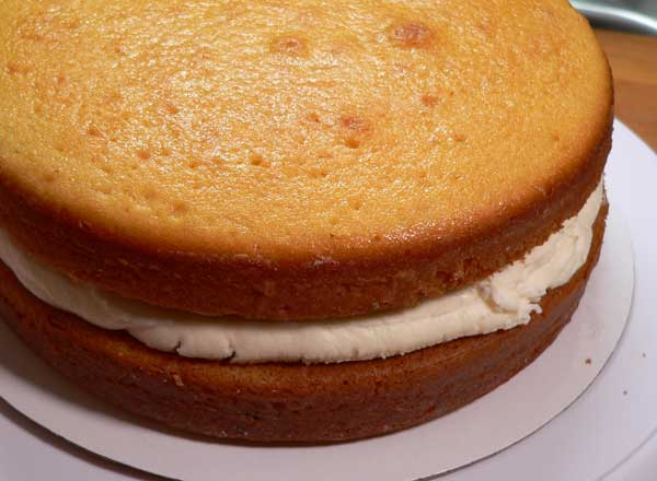 Golden Butter Cake layers recipe, as seen on Taste of Southern.