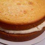 Golden Butter Cake layers