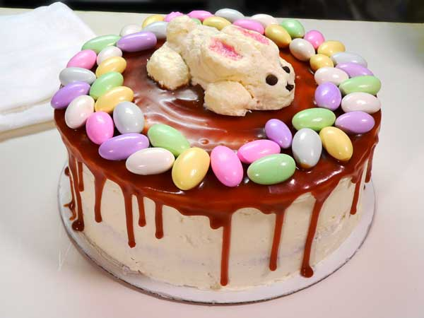 Easter Bunny & Eggs Cake, my bunny cake.