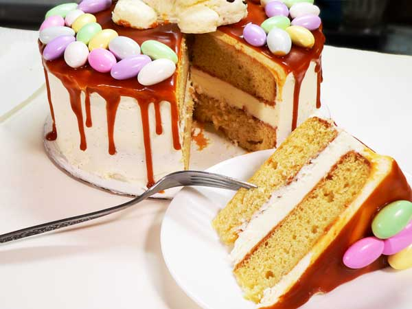 Easter Bunny & Eggs Cake, enjoy.