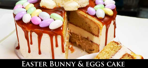 Easter Bunny & Eggs Cake, slider.