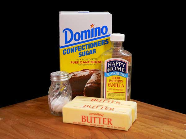 Buttercream Frosting, you'll need these ingredients.