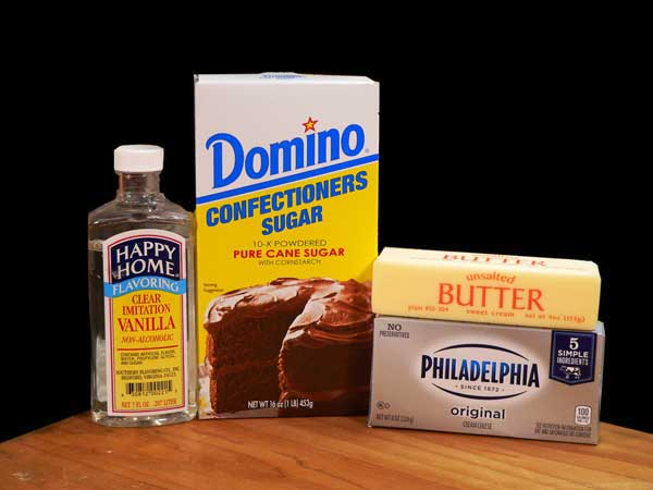 Vanilla Cream Cheese filling, you'll need these ingredients.