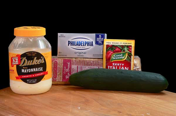 Cucumber Sandwiches, you'll need these ingredients.