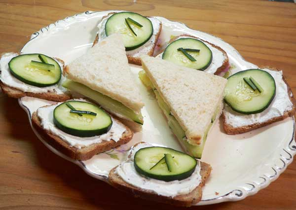 Cucumber Sandwiches, enjoy.