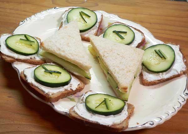 Cucumber Sandwiches, enjoy.