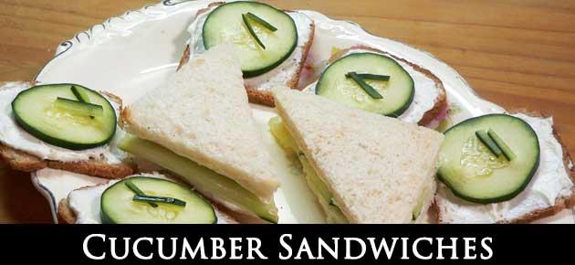 Cucumber Sandwiches,slider