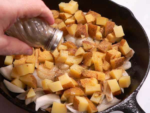 Home Fries, add black pepper.