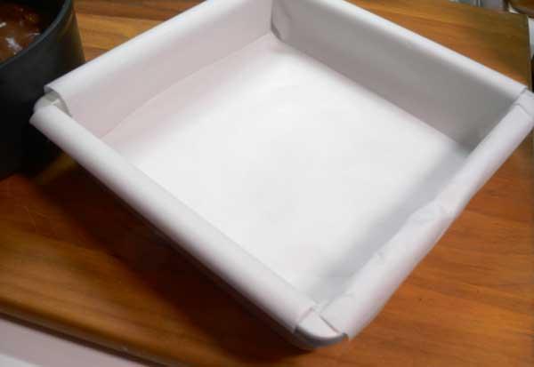 Foolproof Fudge, prepare the pan.