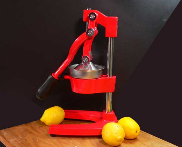 Lemonade, full view of the Zulay Kitchens citrus juicer.