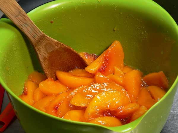 Peach Cobbler, stir well.