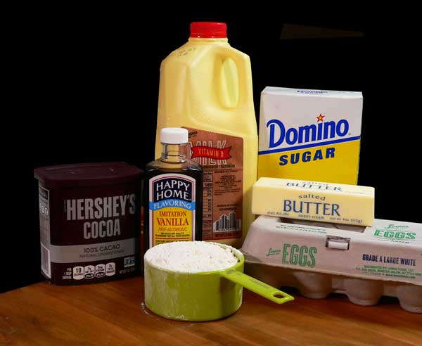 Chocolate Pie, you'll need these ingredients.
