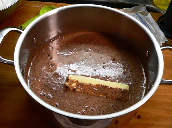 Chocolate Pie, place in large sauce pot,