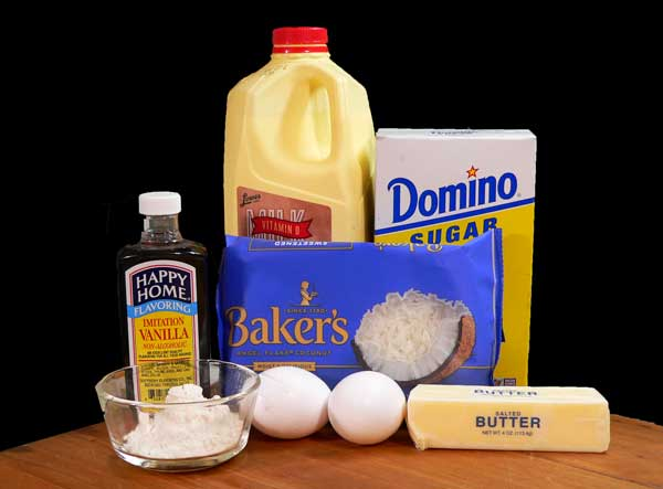 Coconut Pie, you'll need these ingredients.
