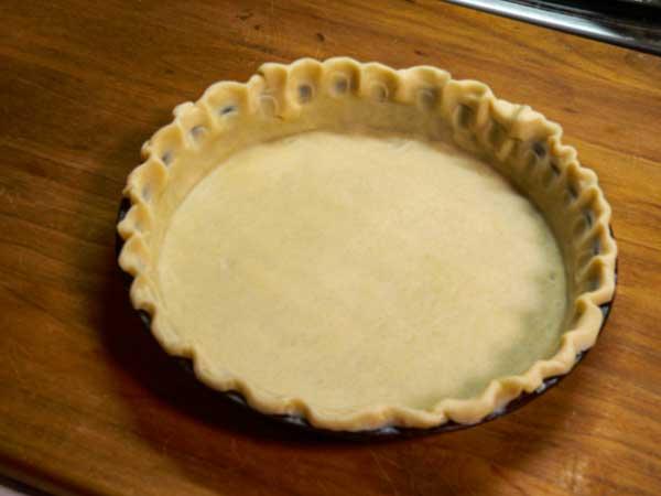 Coconut Pie, prepare the crust.