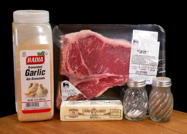 Skillet Steak, ingredients you'll need.