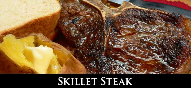Skillet Steak, slider.