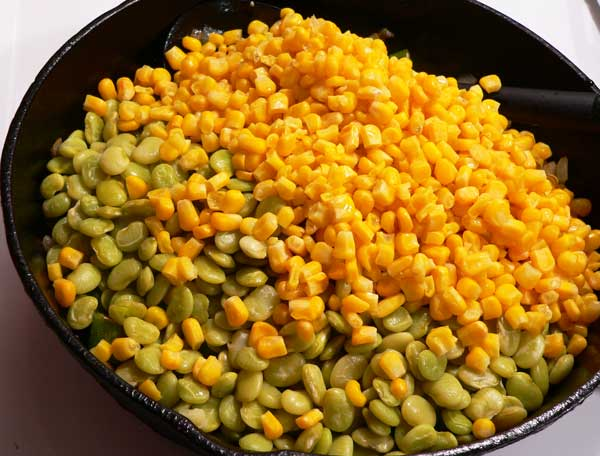 Succotash, add the corn.
