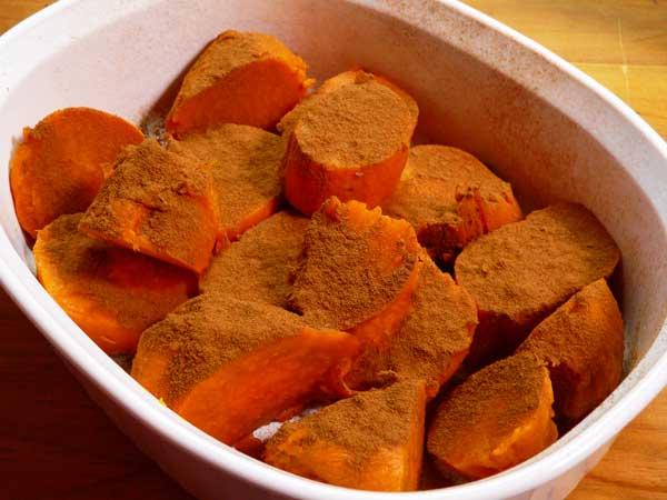 Candied Yams, add the cinnamon.