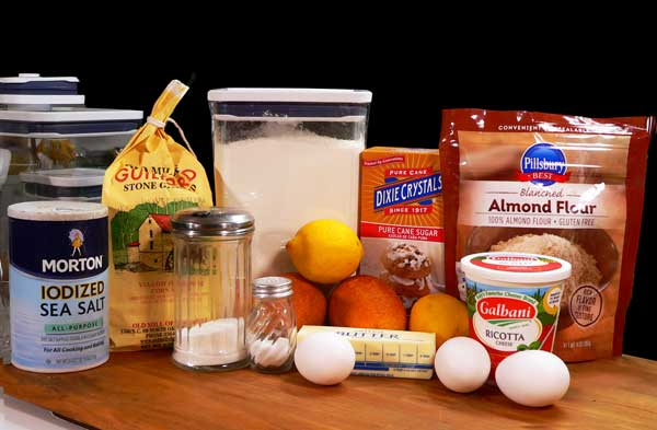Cornmeal-Ricotta, you will need these ingredients.