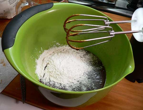 Gingerbread, add flour.
