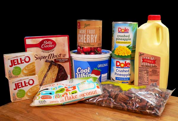 Punch Bowl Cake, you'll need these ingredients.