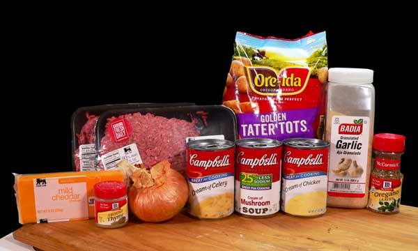 Tater Tot Casserole, you'll need these ingredients.