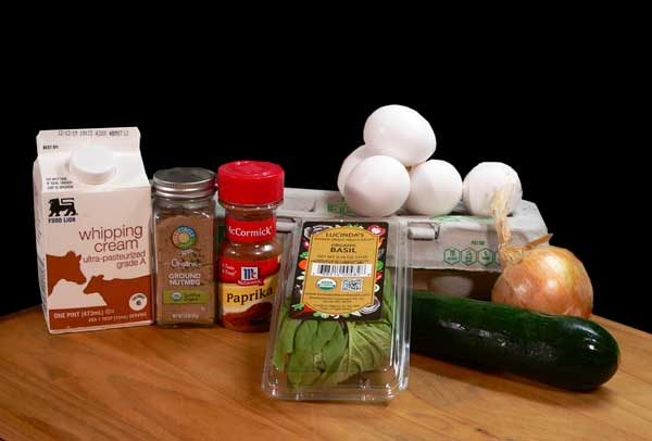 Zucchini Quiche, you'll need these ingredients.