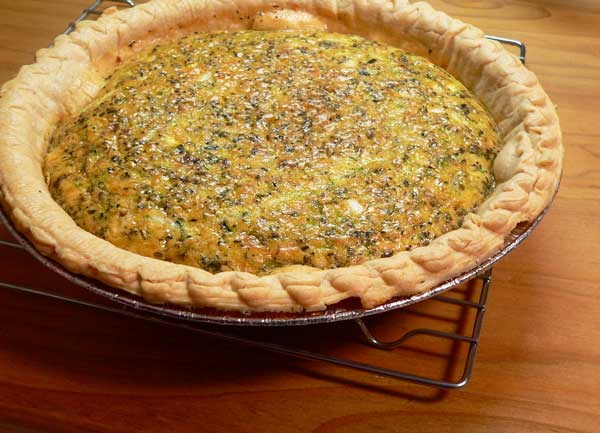 Zucchini Quiche, place on wire rack to cool.
