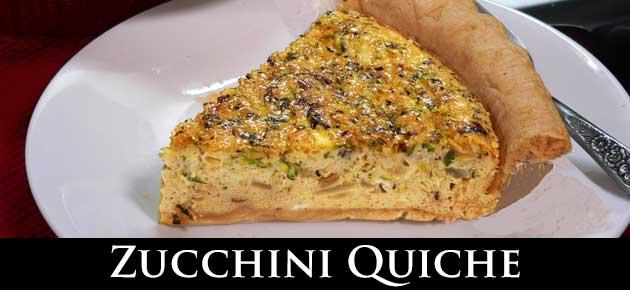 Zucchini Quiche, slider.