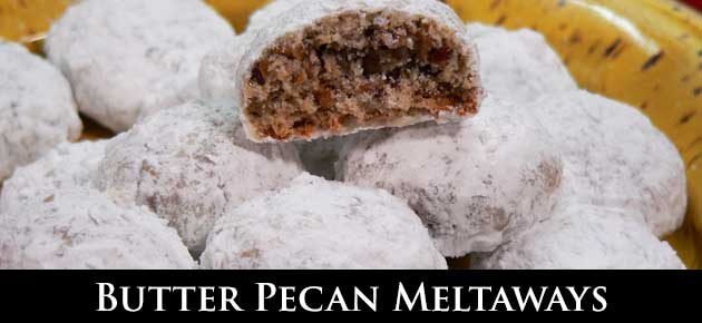 Butter Pecan Meltaways Recipe
