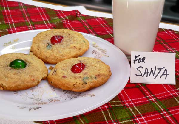Fruitcake Cookies, enjoy Santa.