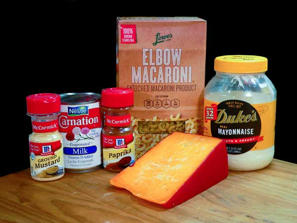 Mac and Cheese, ingredients.
