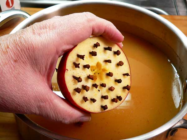 Wassail, add the whole cloves.
