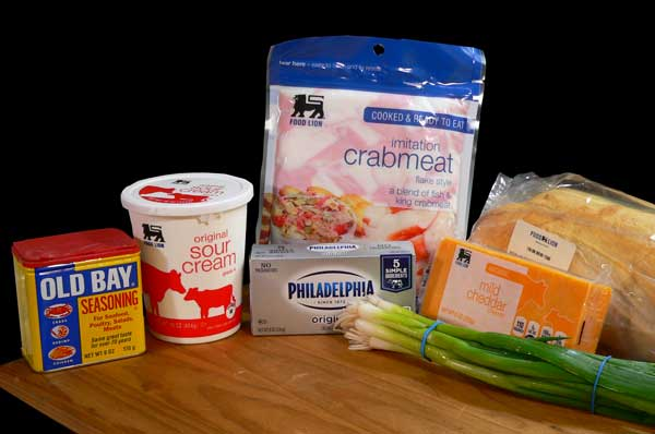 Crab Dip, you'll need these ingredients.