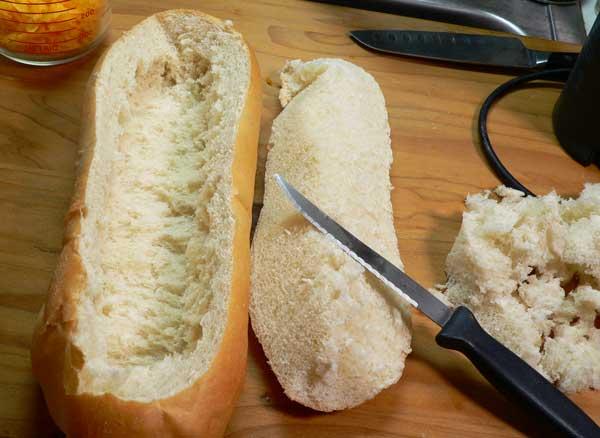 Crab Dip, prepare the bread.