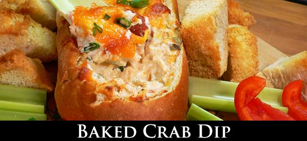 crab dip, slider