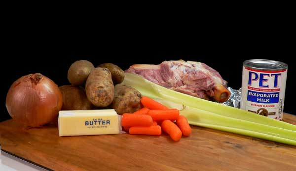 Potato Ham Bone Soup, ingredients you will need.