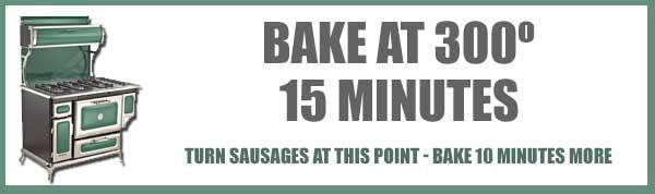 Sausage Chips, bake 15 minutes.