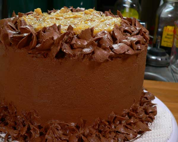 German Chocolate Cake, another view