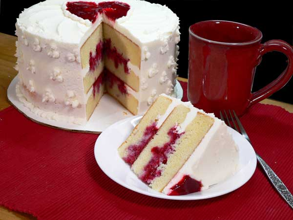 Raspberry Heart Cake, enjoy!